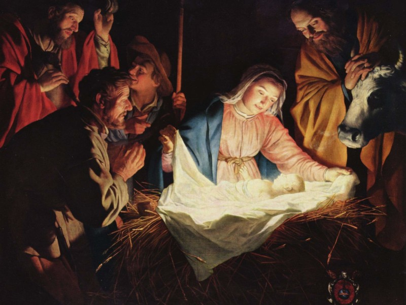 The Adoration of the Shepherds by Gerard van Honthorst, 1622